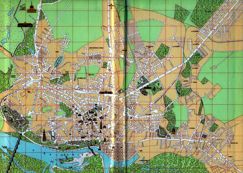 Карта Киева 1947 года.